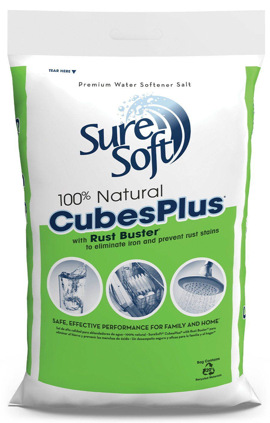 SureSoft® CubesPlus with Rust Buster Bag | SureSoft® Water Softener